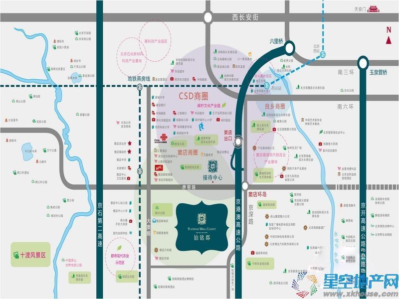 铂铭郡交通图