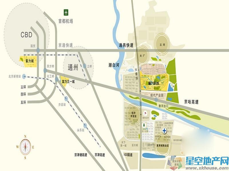 富力新城交通图