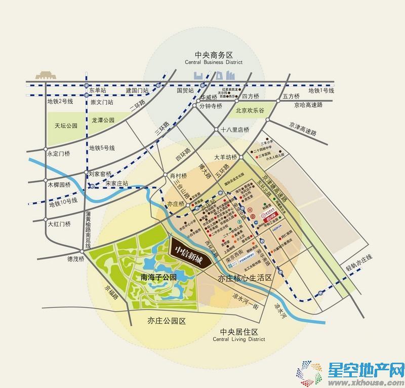 中信府世家交通图