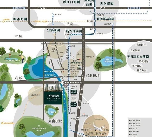 珺悦国际交通图