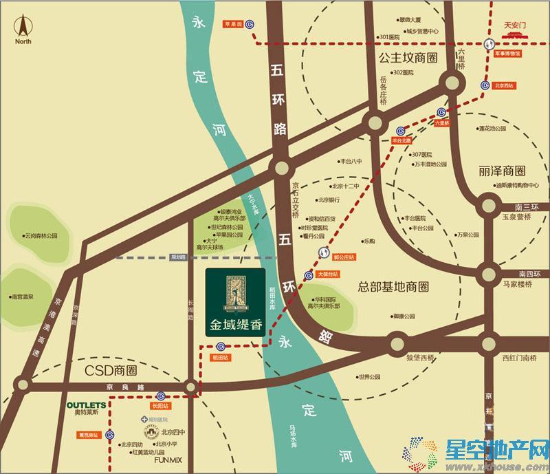 天资·璟庭交通图