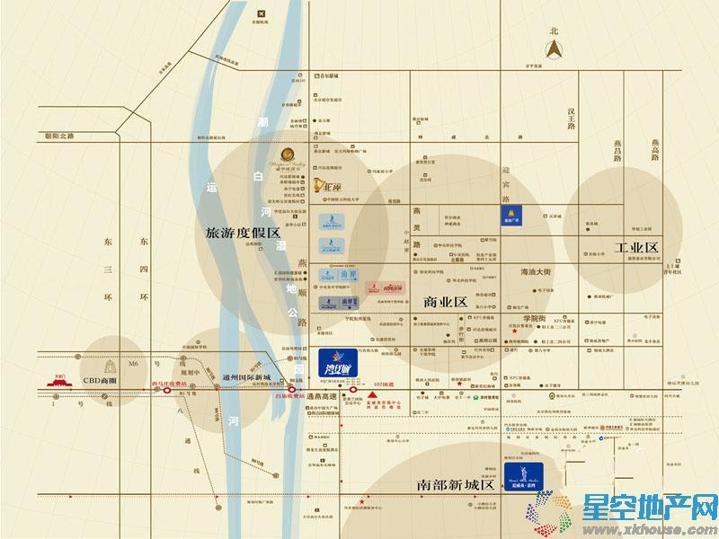 夏威夷·蓝湾交通图