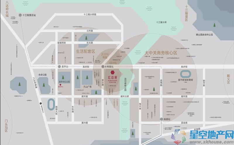 红石座交通图