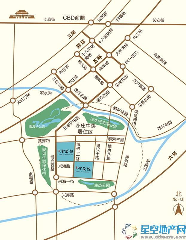 亦庄·金茂悦交通图