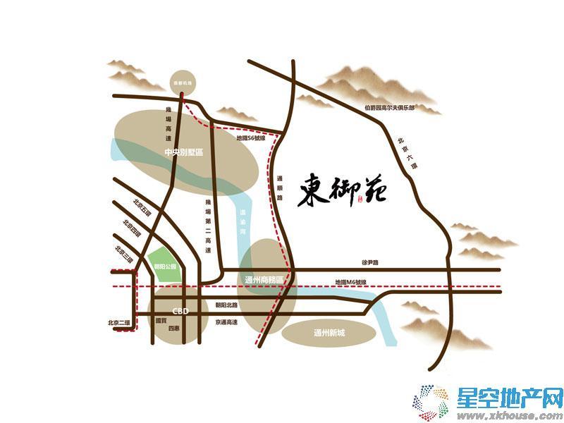 东御苑交通图