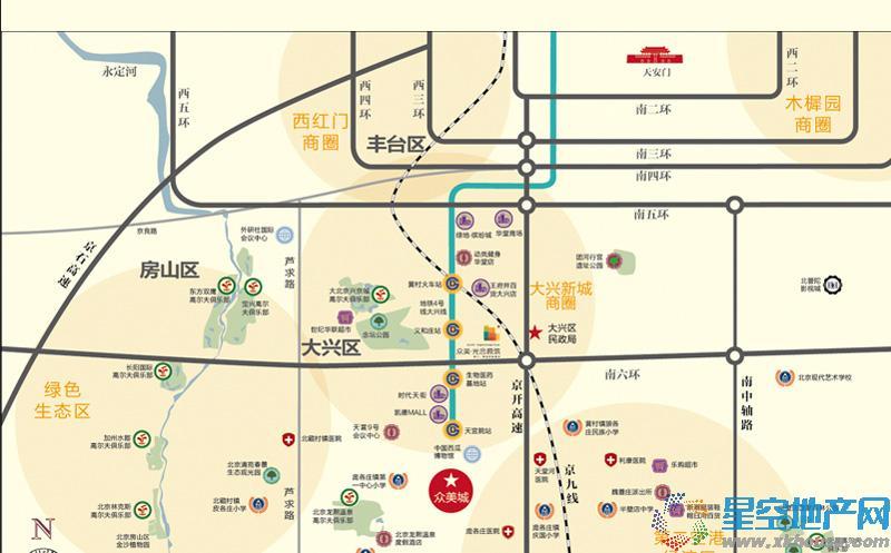 众美城交通图