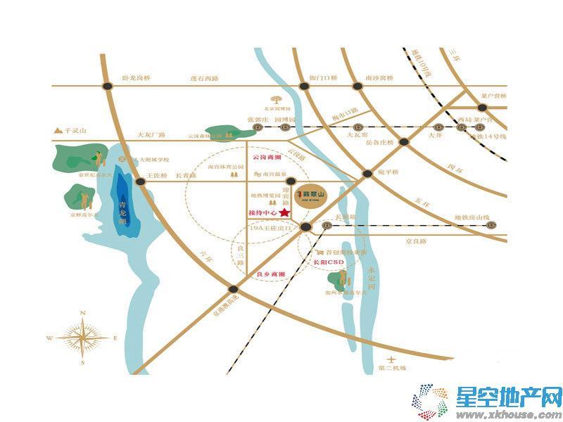 领秀·翡翠山交通图