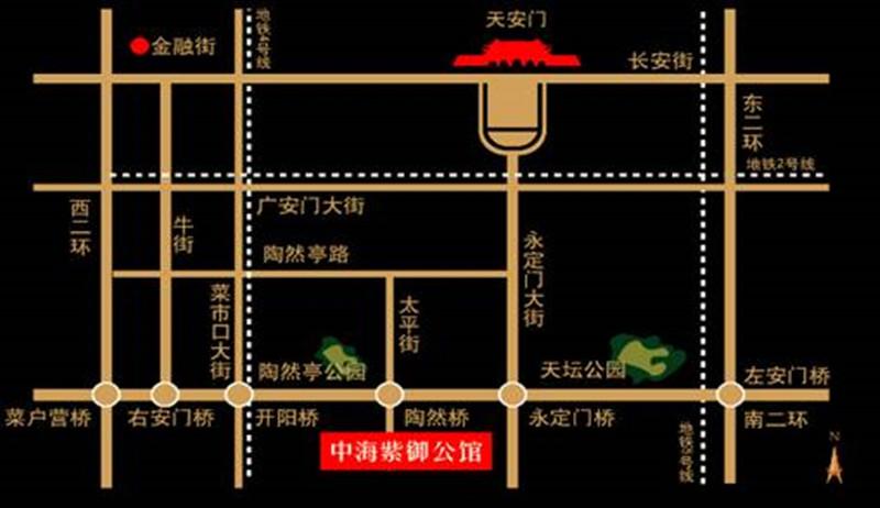 中海紫御公馆交通图