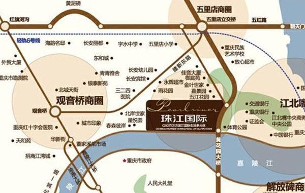珠江国际交通图