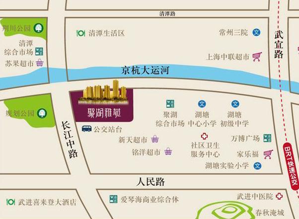 聚湖雅苑交通图
