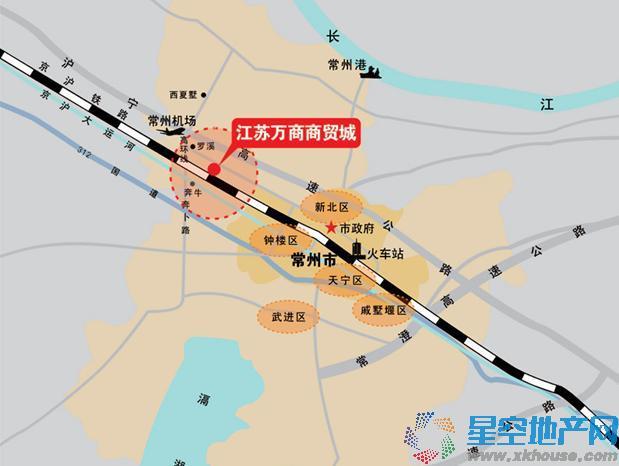 江苏万商商贸城交通图