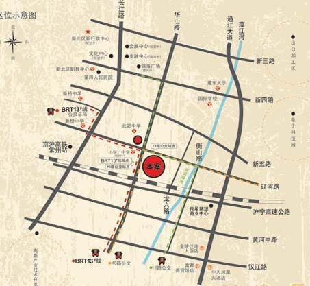 凤凰名城交通图