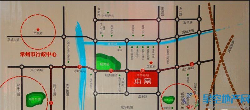 港龙紫荆城交通图