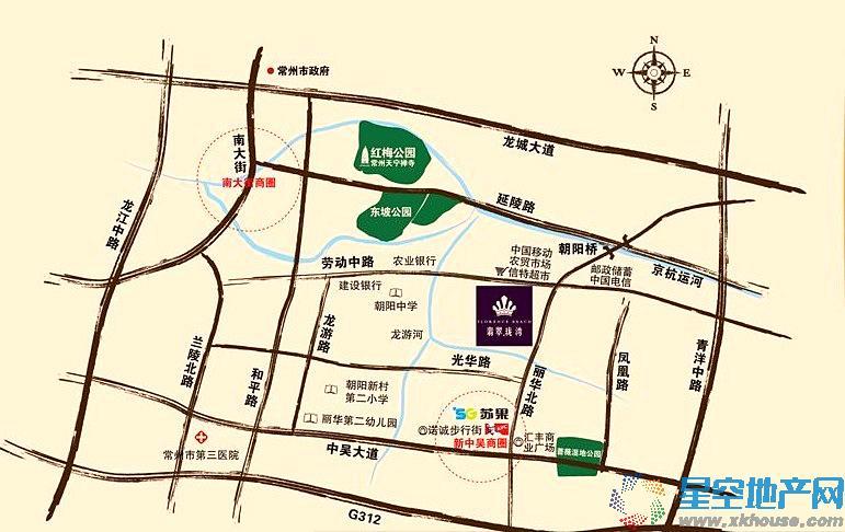 翡翠珑湾交通图