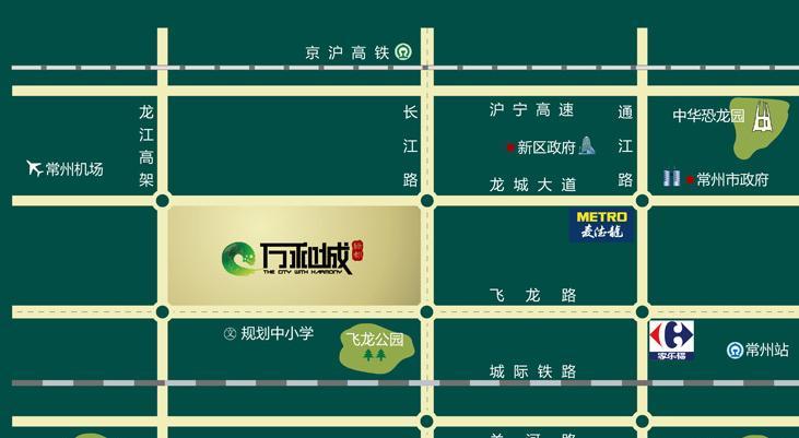 绿都万和城交通图