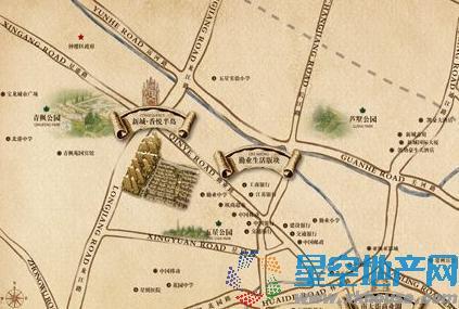 新城香悦半岛交通图