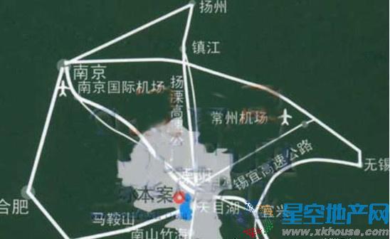 天目湖金桥国际交通图