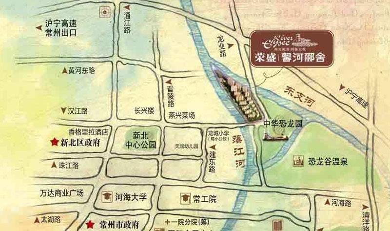 荣盛馨河郦舍交通图