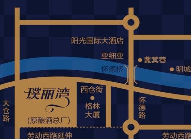 璞丽湾Ⅱ期珑苑交通图