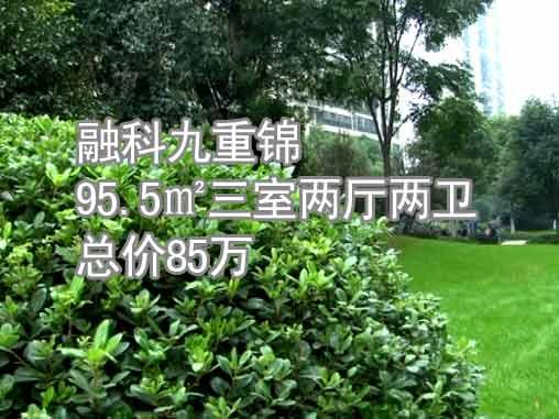 合肥融科九重锦三室两厅两卫总价85万房源