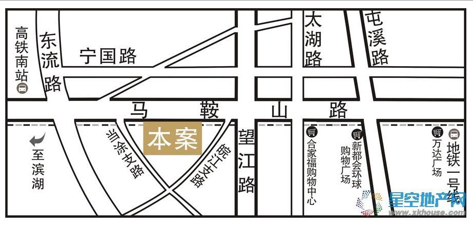 万振城市广场交通图