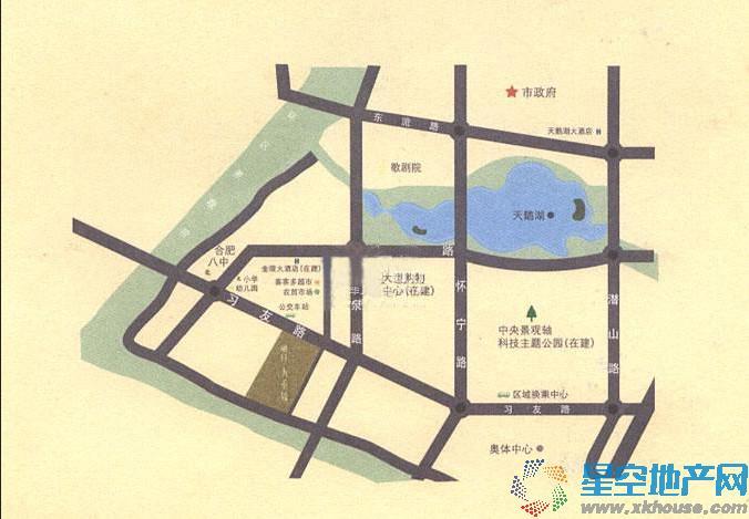 融创九重锦交通图