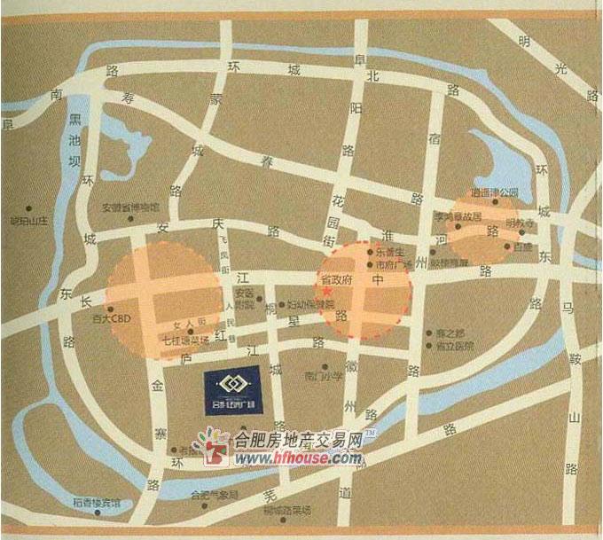 合作经济广场交通图