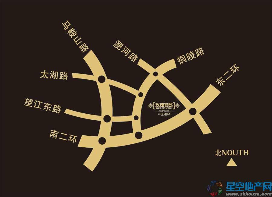 玫瑰绅城交通图
