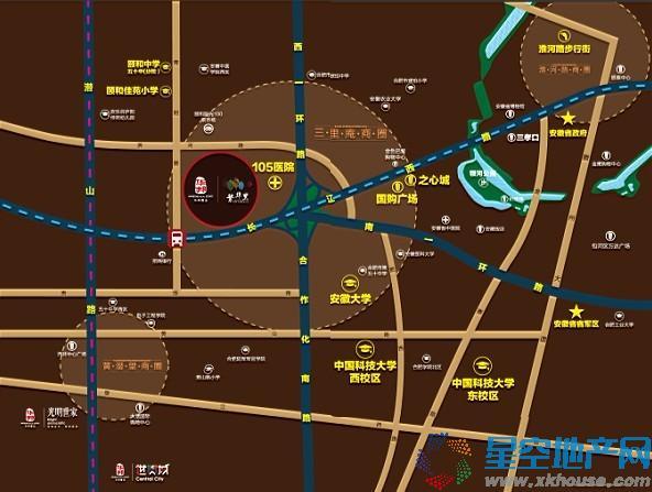 华邦繁华里交通图