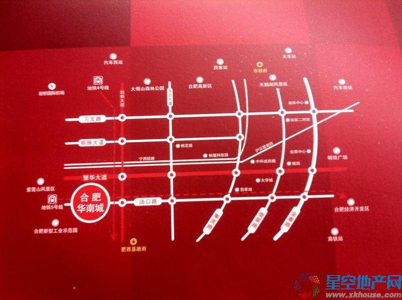 合肥华南城交通图