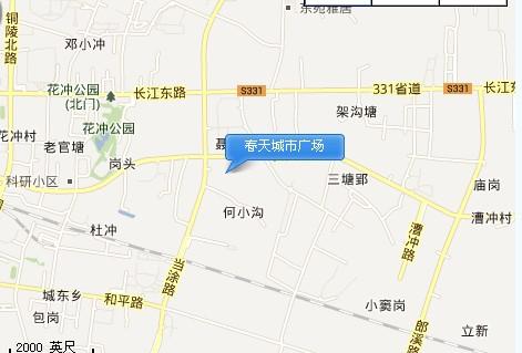 春天城市广场交通图