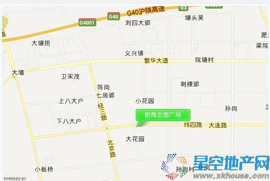 徽商总部广场交通图