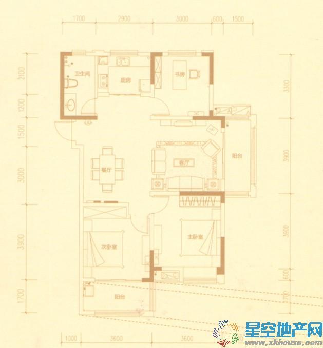 华润橡树湾三室二厅一卫