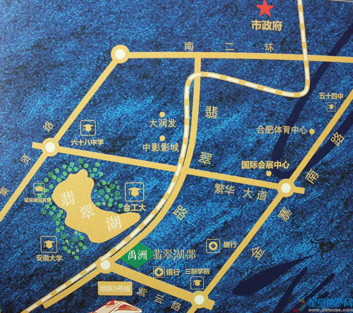 禹洲翡翠湖郡交通图