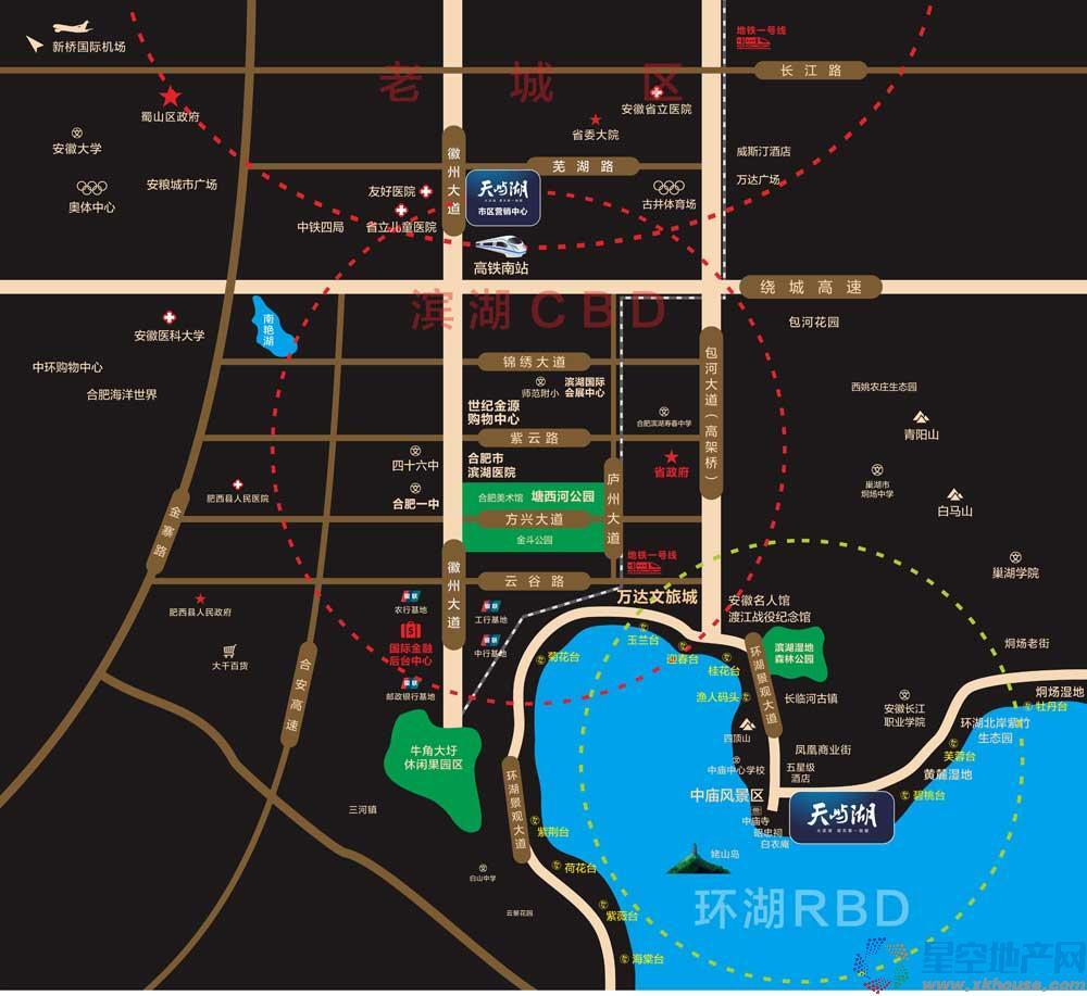 太阳世纪·天屿湖交通图