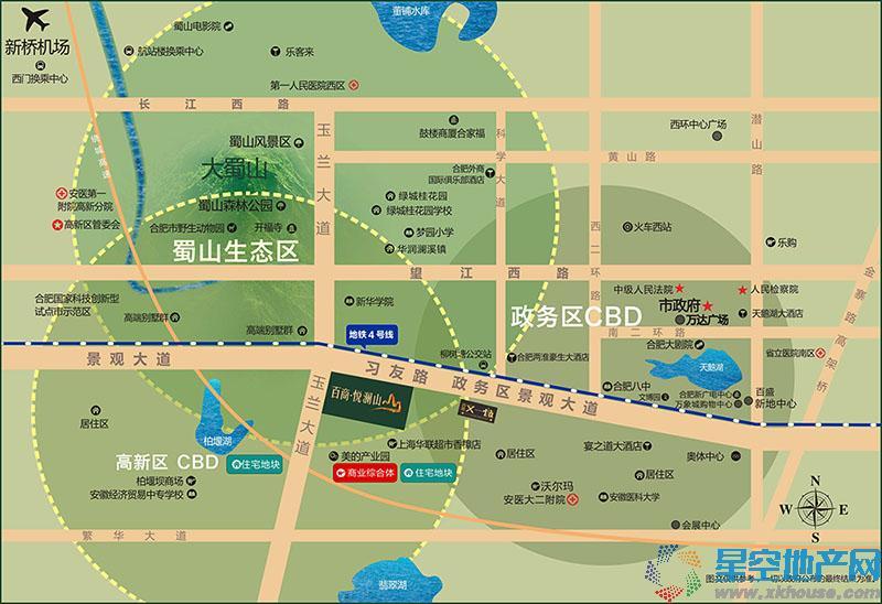百商悦澜山交通图