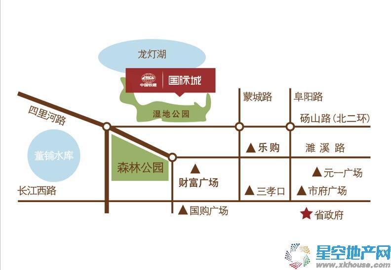 中国铁建瑞园交通图