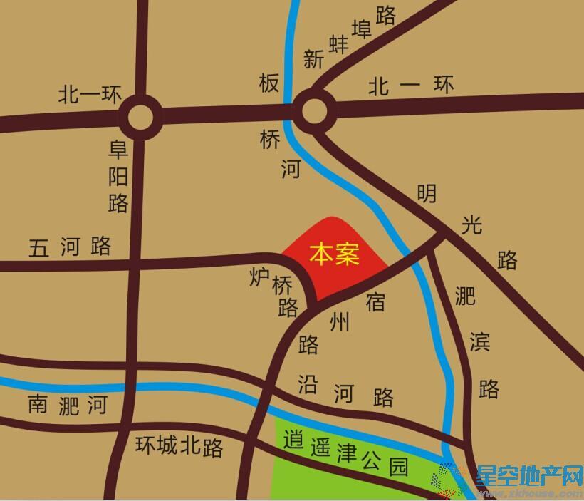 阳光尚景苑交通图