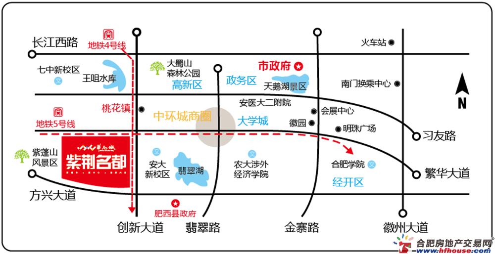 华南城.紫荆名都四期锦园周边环境图