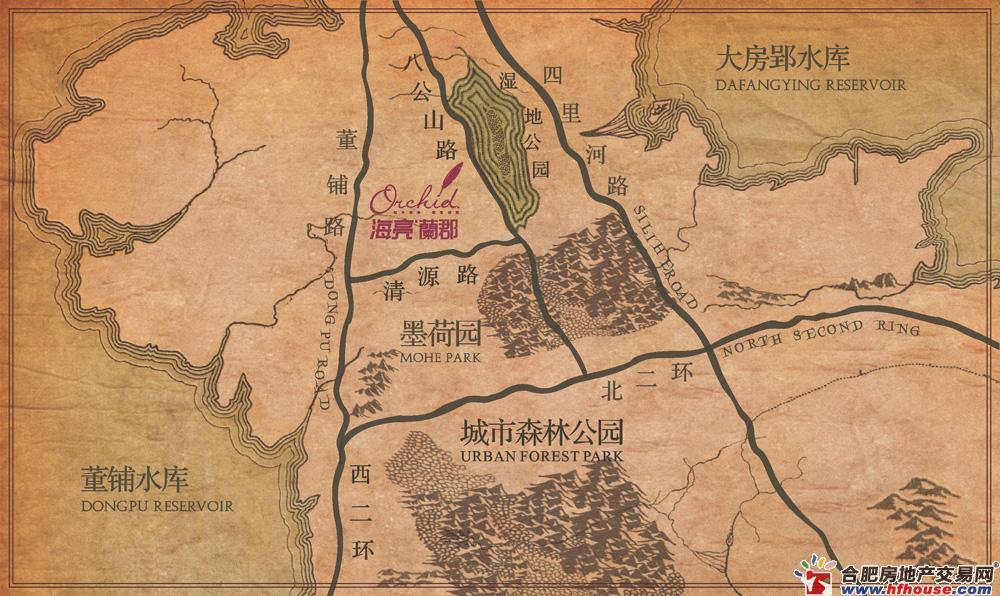 海亮香滨街交通图