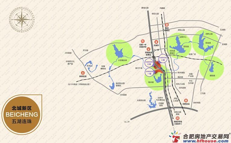 北城世纪城交通图