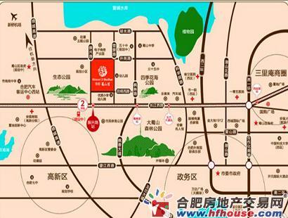 华邦蜀山里交通图