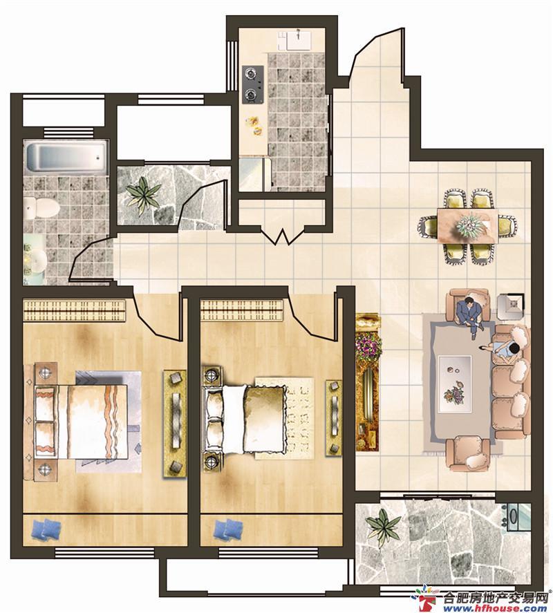 文一名门绿洲三室二厅一卫