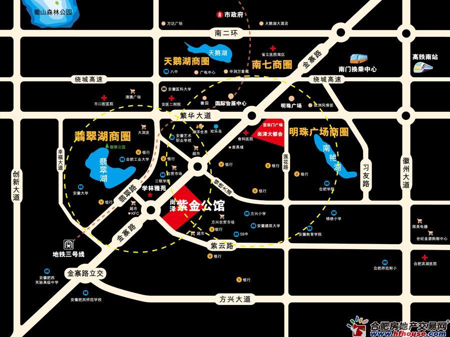 尚泽·紫金公馆交通图