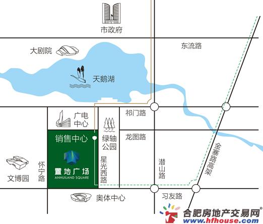 置地广场栢悦府交通图