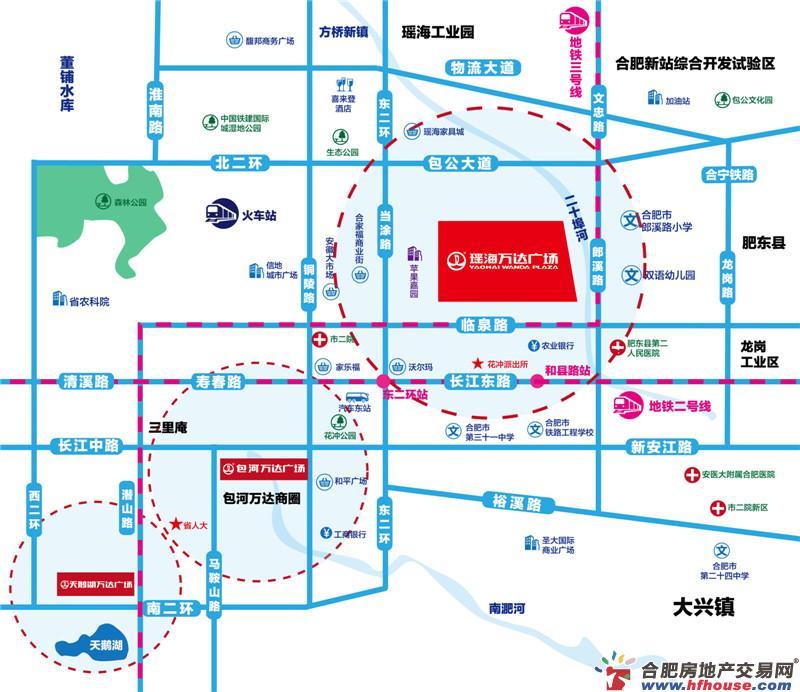 瑶海万达广场交通图
