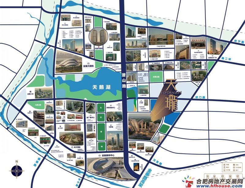 天珑广场交通图