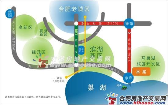 碧桂园滨湖城交通图