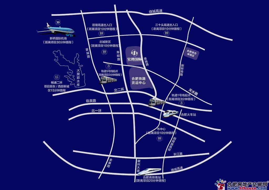 宝湾国际交通图