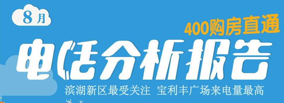 8月400电话分析:滨湖新区受热